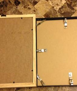 Back of Frames Wood vs Metal