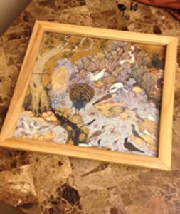 Wooden Framed Islamic Calendar Art