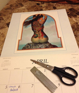 Mermaid Calendar with Cutting Tools